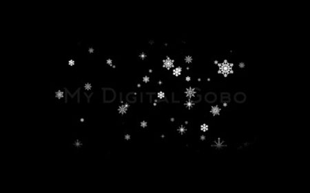Snow Falling – Large Snowflakes